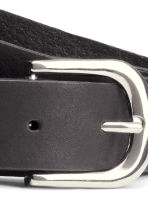 Leather belt - Black/Silver - Ladies | H&M GB 3