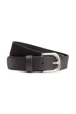 Leather belt - Black/Silver - Ladies | H&M GB 1