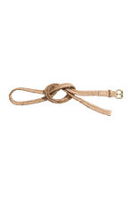 Braided belt - Light beige - Ladies | H&M CN 2