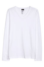 Long-sleeved T-shirt Slim fit - White - Men | H&M 2