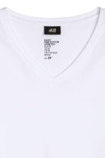 Long-sleeved T-shirt Slim fit - White - Men | H&M 3