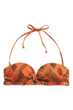 Bikini top - Orange/Patterned - Ladies | H&M GB 2