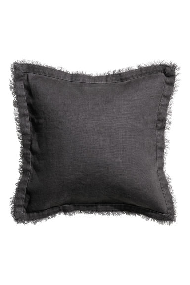 Linen cushion cover - Anthracite grey - Home All | H&M CN 1