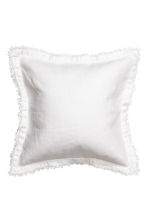 Linen cushion cover - White - Home All | H&M CN 1