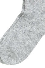 Overknee socks - Light grey marl - Ladies | H&M CN 3