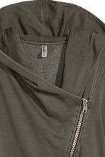 Hooded sweatshirt cardigan - Khaki green - Ladies | H&M CN 3