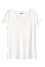 V-neck top - White - Ladies | H&M CN 2