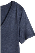 V-neck top - Dark blue marl - Ladies | H&M CN 3