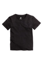 Cotton T-shirt - Black -  | H&M CN 2