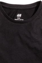 Cotton T-shirt - Black -  | H&M CN 4
