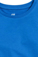 Cotton T-shirt - Cornflower blue -  | H&M CN 3
