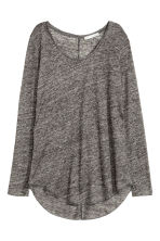 Top lungo in lino - Grigio scuro mélange - DONNA | H&M IT 2