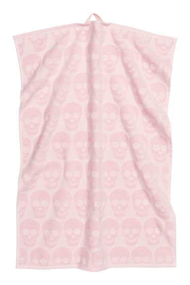 Serviette - Rose clair/têtes de mort - Home All | H&M FR 1