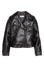 Biker jacket - Black - Kids | H&M GB 2