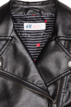 Biker jacket - Black - Kids | H&M GB 3