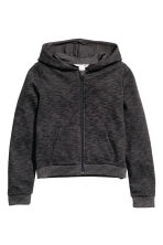 Hooded jacket - Black marl -  | H&M CN 2