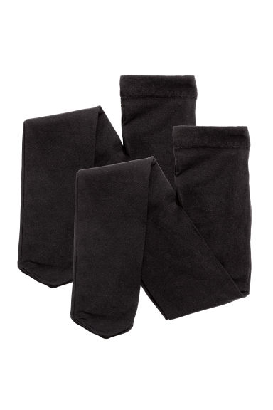 Lot de 2 collants fins - Noir - ENFANT | H&M FR 1