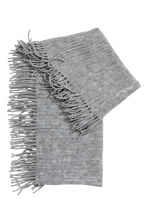 Fringed tube scarf - Grey marl - Kids | H&M GB 2