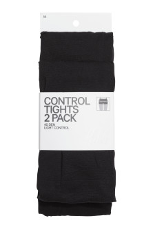 Set van 2 control top-panty's