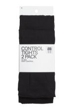 2-pack Control top tights - Black - Ladies | H&M 2