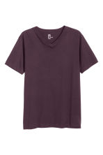 V-neck T-shirt Regular fit - Dark purple - Men | H&M CN 1