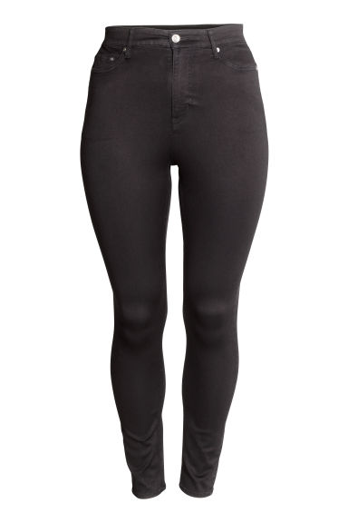 H&M+ Skinny High Jeans - Black denim - Ladies | H&M CN 1
