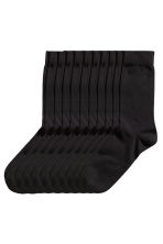 10-pack socks - Black - Men | H&M CN 1