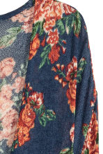 Fine-knit cardigan - Dark blue/Floral - Ladies | H&M GB 3