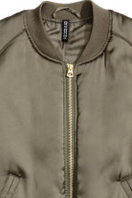 Short satin bomber jacket - Khaki green - Ladies | H&M GB 3