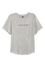 Jersey crop top - Grey/Unicorns - Ladies | H&M GB 2