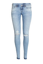 Super Skinny Low Ripped Jeans - 浅牛仔蓝 - 女士 | H&M CN 2