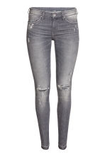 Super Skinny Low Ripped Jeans - Grey - Ladies | H&M GB 2