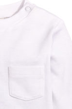 Long-sleeved T-shirt - White -  | H&M 3