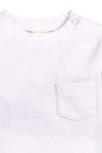 Long-sleeved T-shirt - White -  | H&M 2
