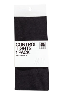 200 denier Control top tights