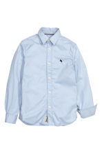 Cotton shirt - Light blue - Kids | H&M CN 3