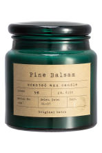 Scented candle in a glass jar - Dark green/Pine Balsam - Home All | H&M IE 3