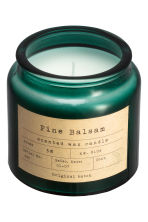 Scented candle in a glass jar - Dark green/Pine Balsam - Home All | H&M IE 4