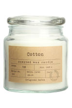 Candela in vasetto di vetro - Vetro trasparente/Cotton - HOME | H&M IT 1