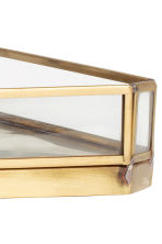 Metal tray with glass sides - Gold - Home All | H&M GB 3