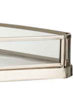 Metal tray with glass sides - Silver - Home All | H&M CN 2