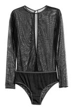 Long-sleeved mesh body - Black - Ladies | H&M CN 2
