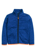 Knitted fleece jacket - Blue marl - Kids | H&M CN 2