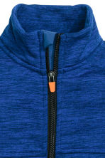 Knitted fleece jacket - Blue marl - Kids | H&M CN 3