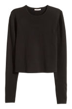 Jumper with a slit - Black - Ladies | H&M CN 2