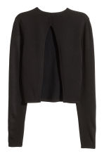 Jumper with a slit - Black - Ladies | H&M CN 3