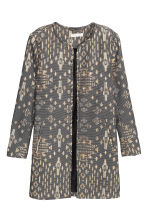 Jacket in a textured weave - Black/Patterned - Ladies | H&M CN 2