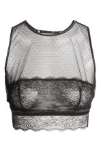 Non-wired lace bra top - Black - Ladies | H&M GB 2
