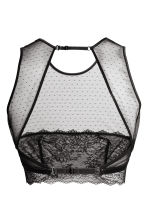 Non-wired lace bra top - Black - Ladies | H&M GB 3