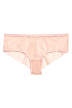 Mesh and lace hipster briefs - Powder beige - Ladies | H&M CN 2